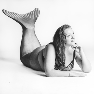 Mermaid Fran bw